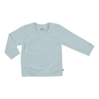 Born by Kiddo Overslag Shirt Stripes - White/ Soft Mint
