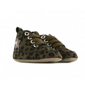 Shoesme Slofjes Green Leopard