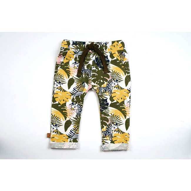 Frogs and Dogs NB Pleated Pants Lemon Of Jungle