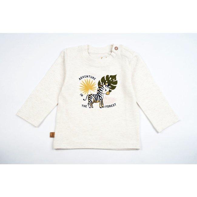 Frogs and Dogs NB T-Shirt Zebra Ecru Melange