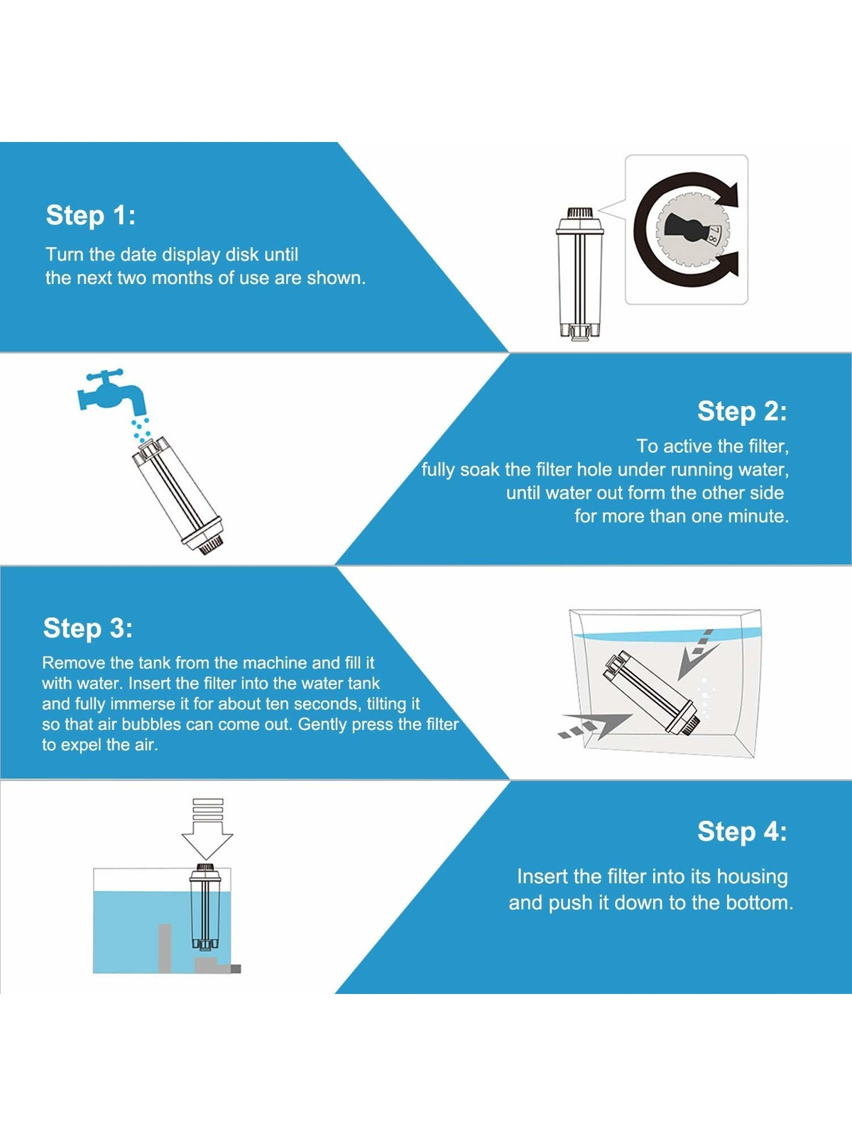 ECCELLENTE Ecam Water Filter for Delonghi