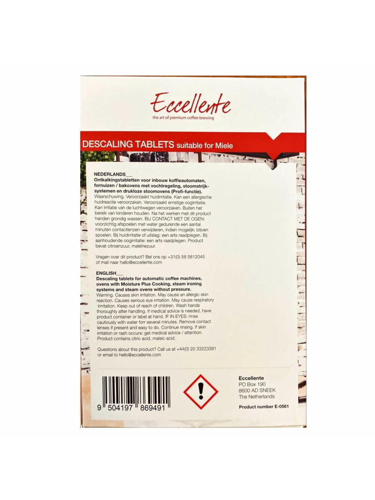 ECCELLENTE Descaling Tablets for Miele - 6 x 50 gram