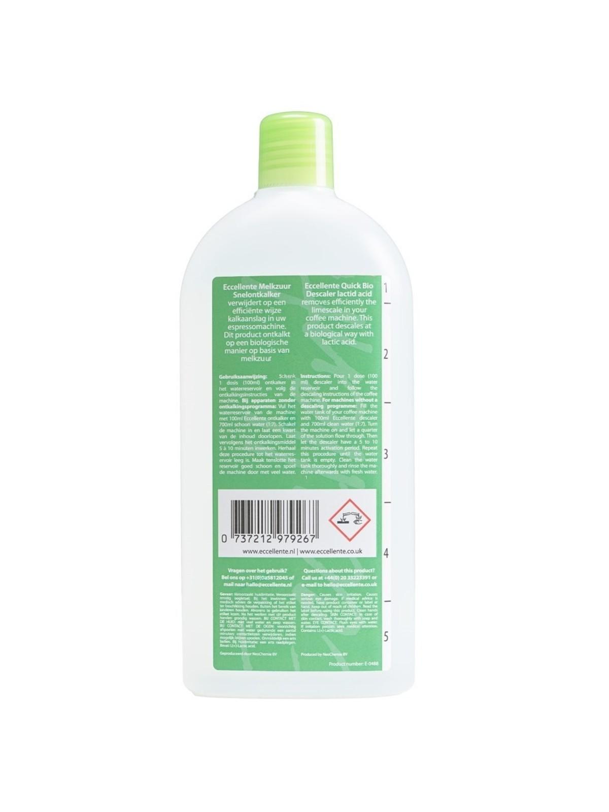 ECCELLENTE Snelontkalker Voordeelfles - Melkzuur