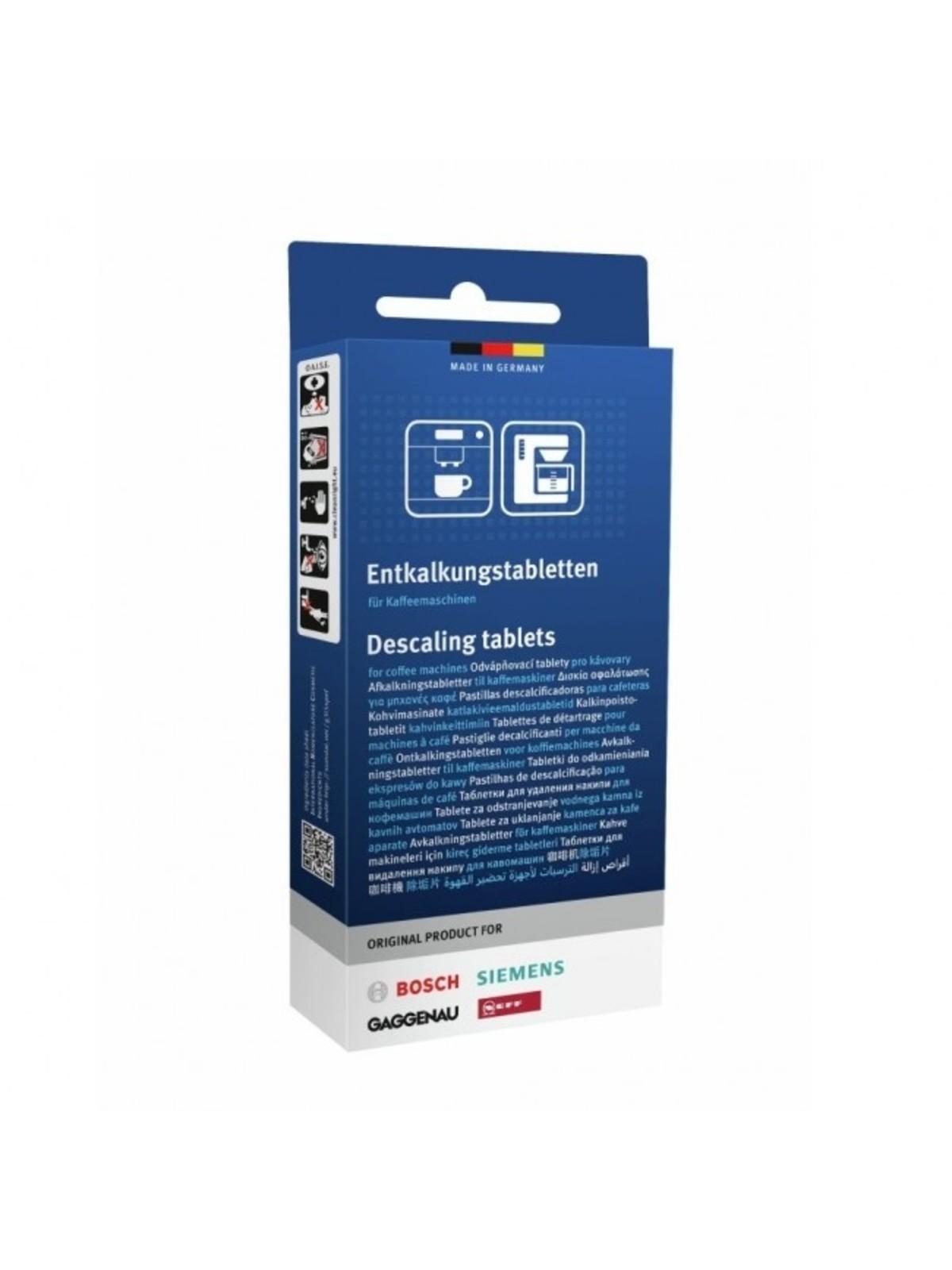 SIEMENS BOSCH ontkalkingstabletten TZ80002 voor koffiezetapparaat 311819, 00311819