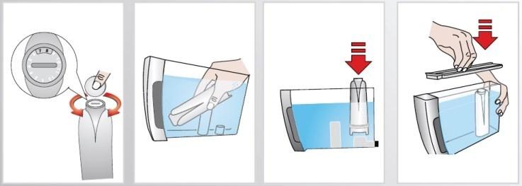 waterfilter aanbrengen