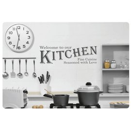 Muurteksten.nl Muurtekst Welcome Kitchen
