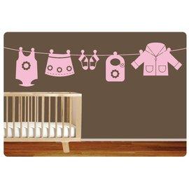 Muurteksten.nl Muursticker kleding meisje