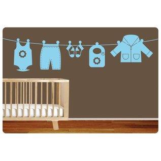 Muurteksten.nl Muursticker kleding jongen