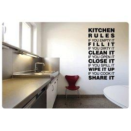 Muurteksten.nl Muurtekst Kitchen Rules