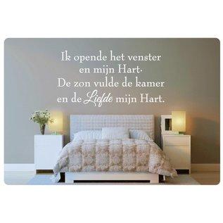 Muurteksten.nl Muurtekst Ik opende het venster