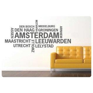 Muurteksten.nl Muurtekst Nederlandse Steden, Amsterdam