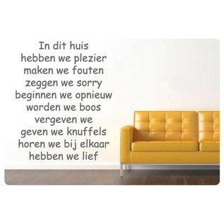Muurteksten.nl Muurtekst In dit huis, Comic Sans