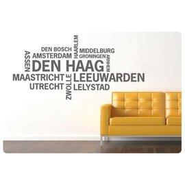 Muurteksten.nl Muurtekst Nederlandse Steden, Den Haag