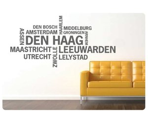 Muurstickers Den Haag.Muurtekst Nederlandse Steden Den Haag