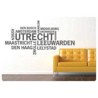 Muurteksten.nl Muurtekst Nederlandse Steden, Utrecht
