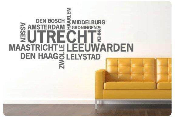 Muurstickers Den Haag.Muurtekst Nederlandse Steden Utrecht Muurstickers En Muurteksten