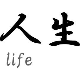 """Japanse tekens \""""Life\"""""""