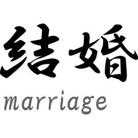 "Japanse tekens \""Marriage\"""