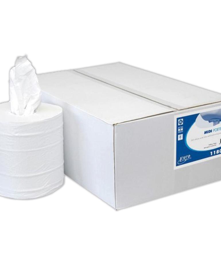 Midi poetspapier 2 laags zonder koker
