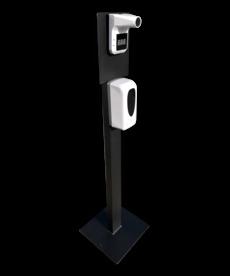 Desinfectie Zuil Met Contactloze Dispenser & Infrarood Thermometer