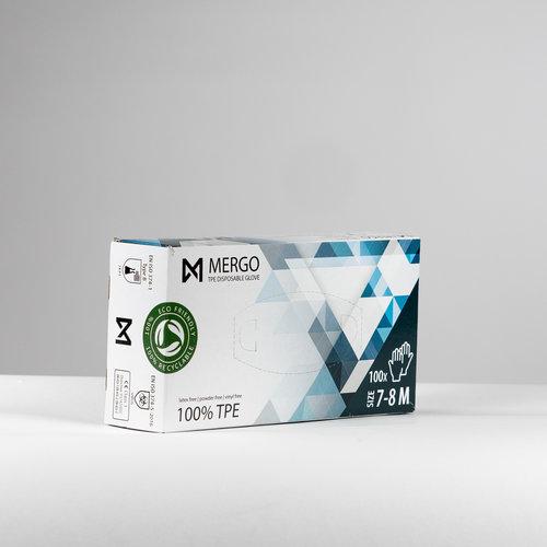 EN374 EN455 Mergo TPE handschoenen maat M 200 st per doos
