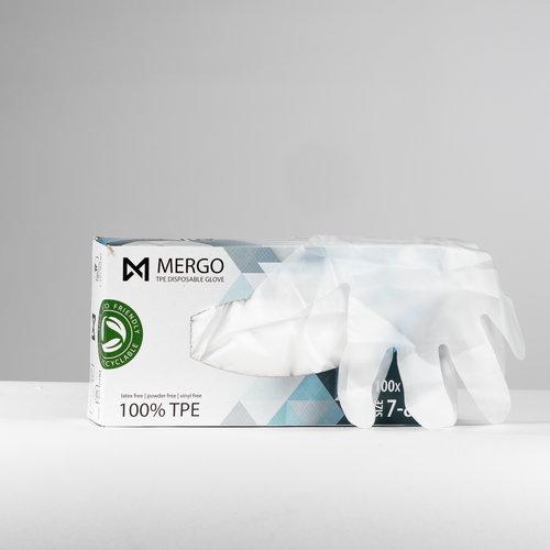 Mergo TPE handschoenen maat M 200 st per doos
