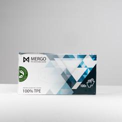 Mergo TPE handschoenen EN445 en EN374  maat L  200 st per doos