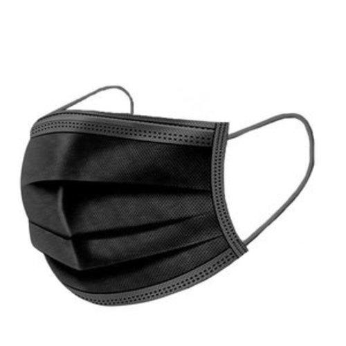 ACTIE!! | Zwarte mondkapjes 50 stuks per doos
