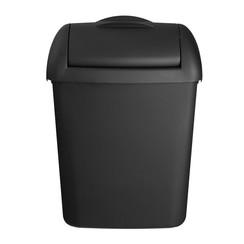 Hygiënebak, mat zwart, 8 liter