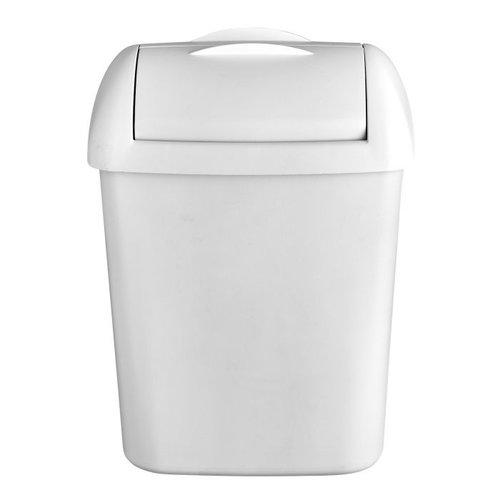 Hygiënebak, wit, 8 liter