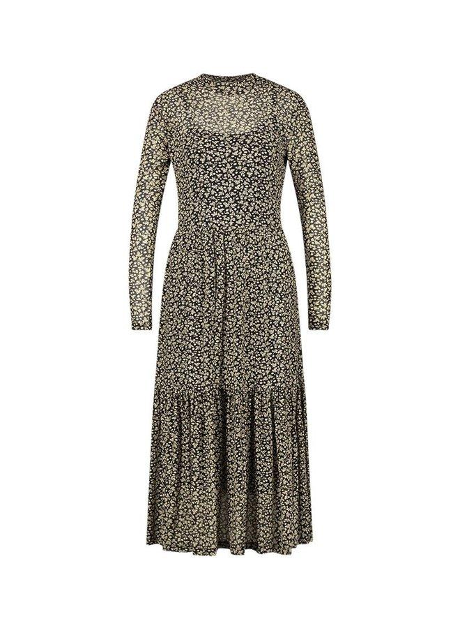 Dress Mirla Leaf Pa 144. | black | Maat L