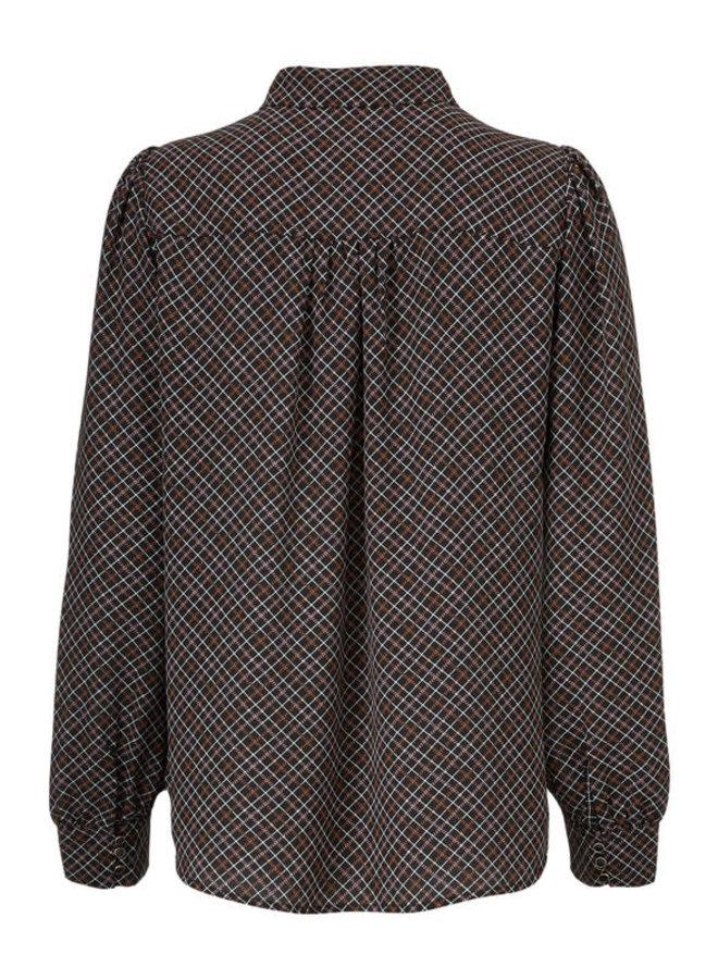 Gekko Print Shirt | rose check