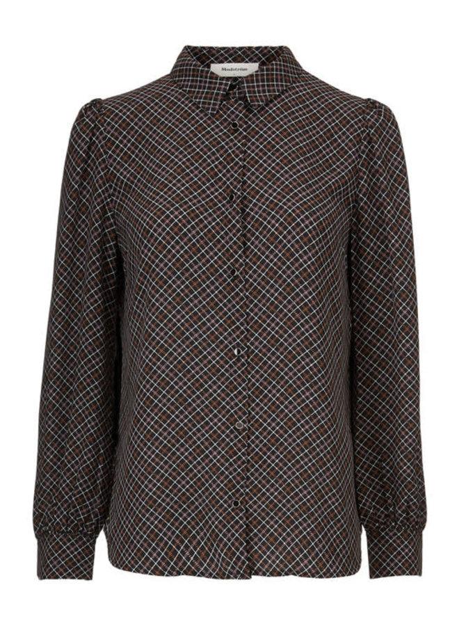 Gekko Print Shirt | rose check | Maat S