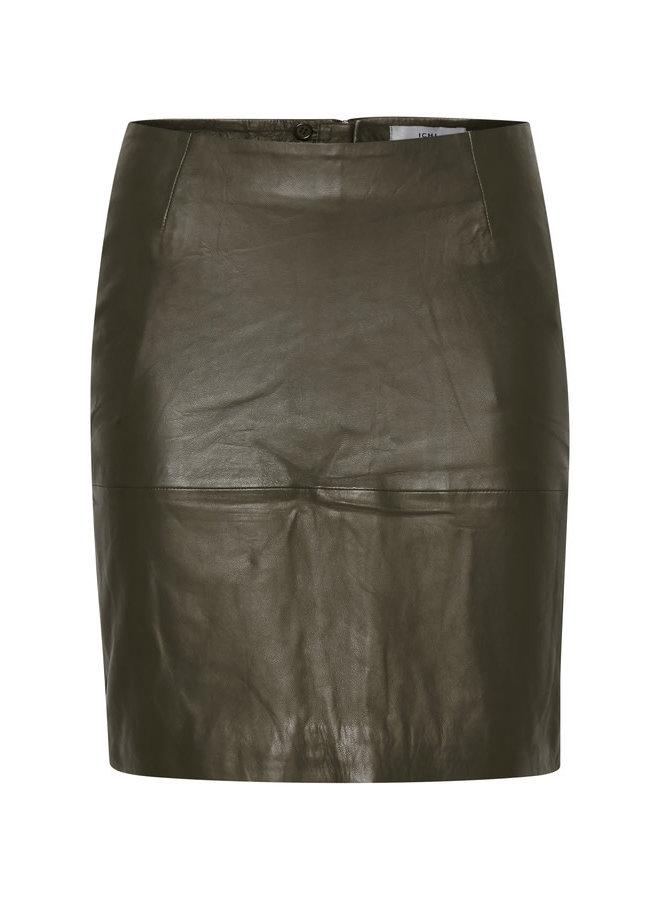 Skirt leather -  IHDARINA SK | beech 190618