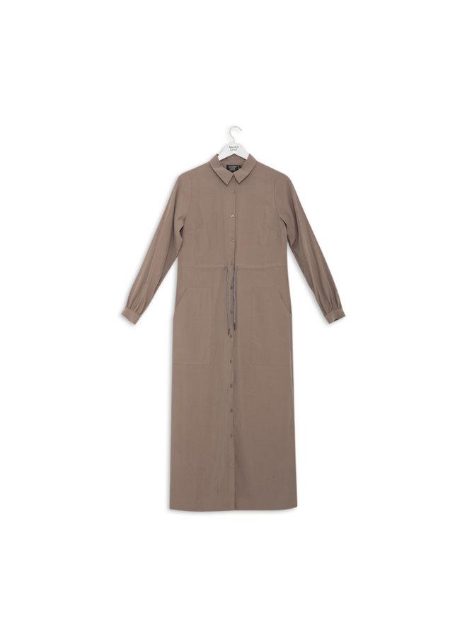 Danette Dress L/S | cinder grey