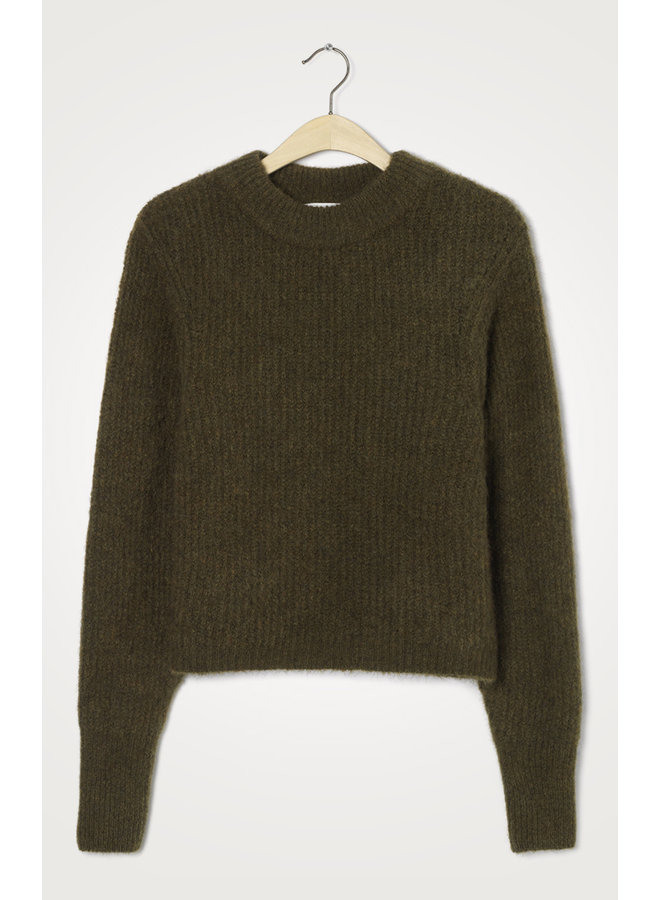 EAST18C PULL ML COL ROND | jungle chine