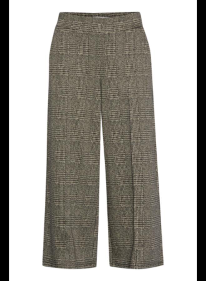 Pants-knitted -  IHKATE GRID PA | black 194008