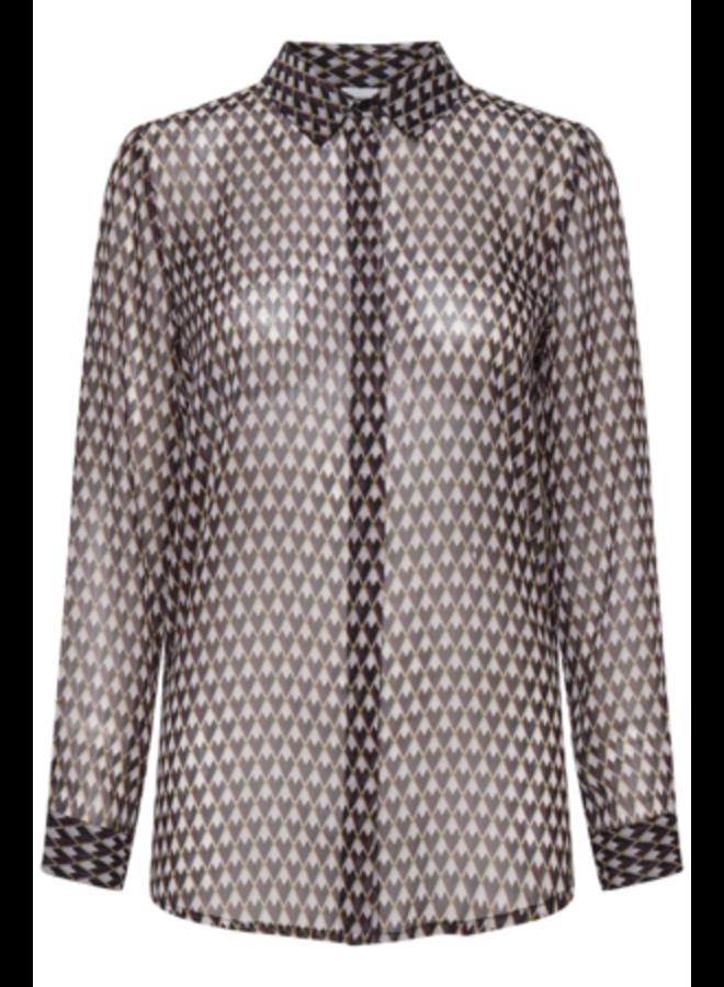 Woven Shirt l/s -  IHASSIP SH | sassafras 191624 | Maat 42