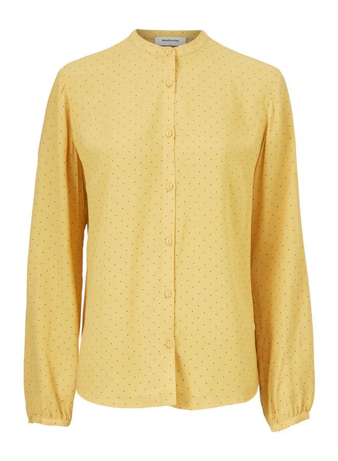 Tinka Print Shirt | mini yellow dot