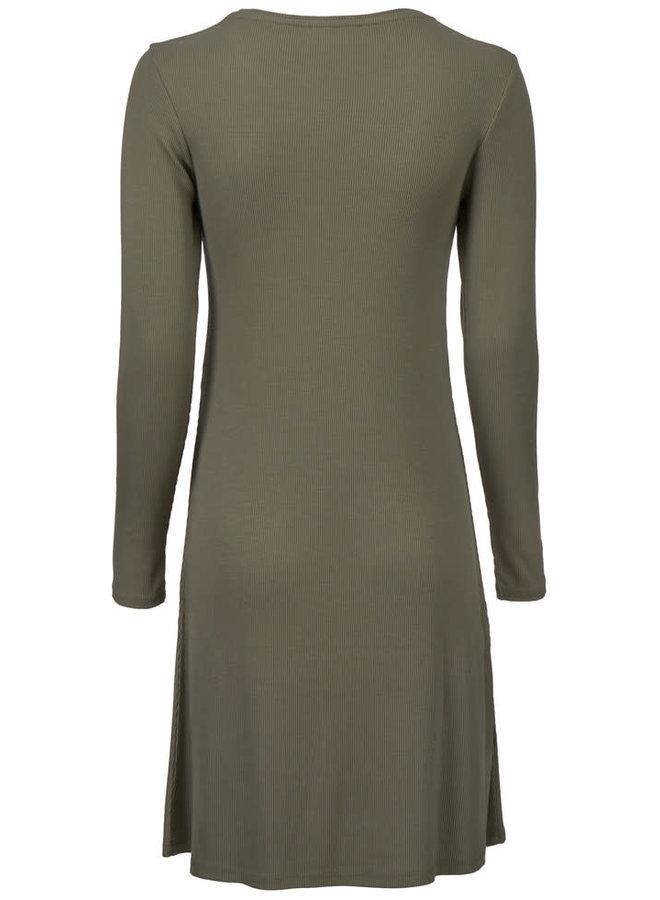 Krown flare dress | dark khaki