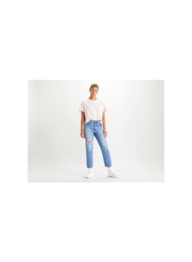501 Crop Sansome Light         | med indigo - worn in