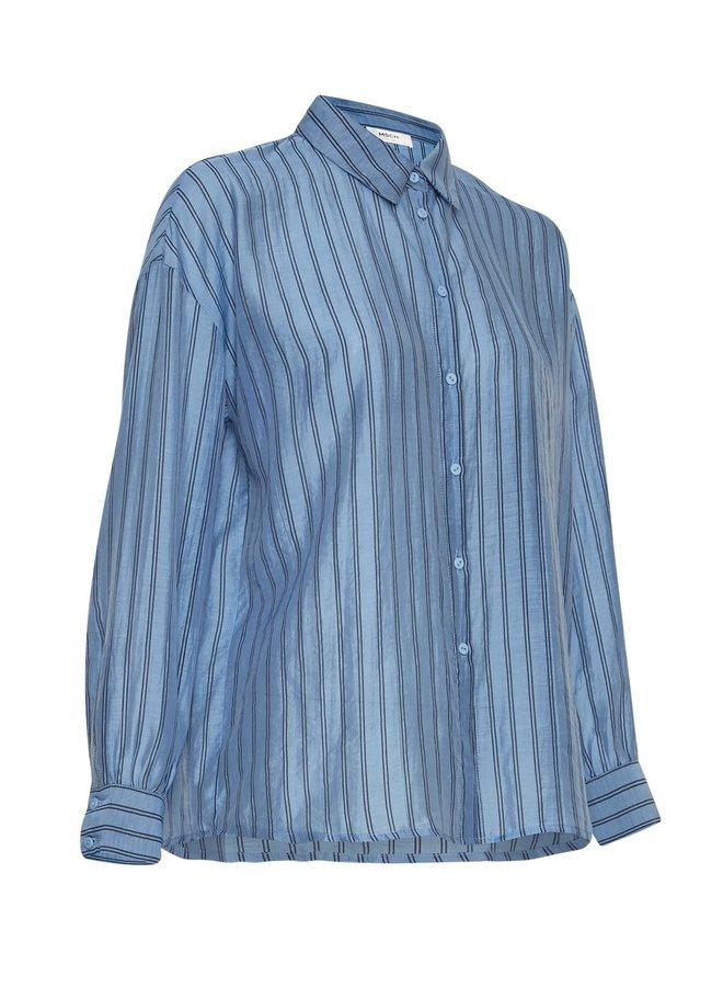 Abelle Shirt AOP | s lake blue stp