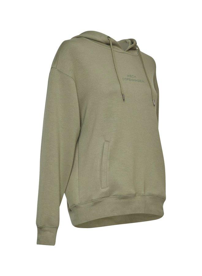 Ima Logo Hood Sweatshirt | o green/o green