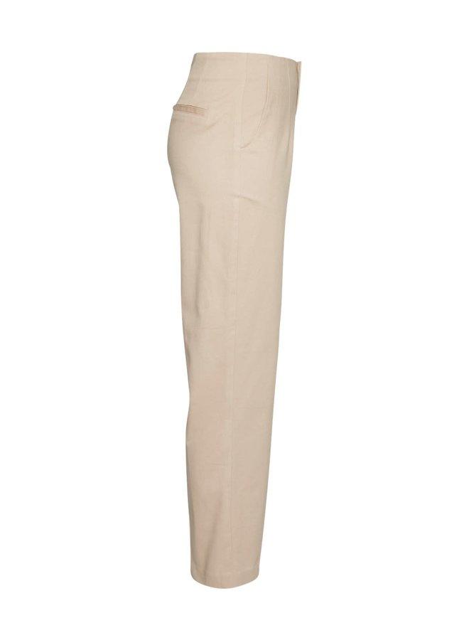 Langley HW Ankle Pants | white pepper