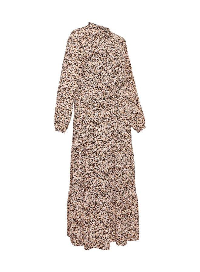 Merila Rikkelie LS Maxi Dress AOP | black dots