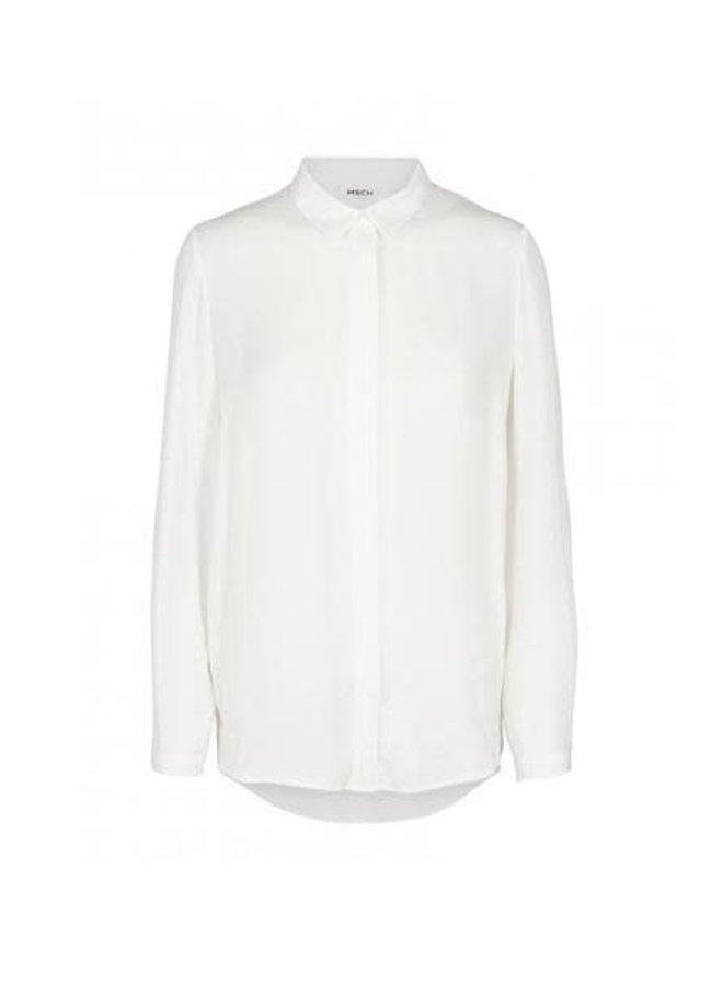 Blair Polysilk Shirt | cloud white