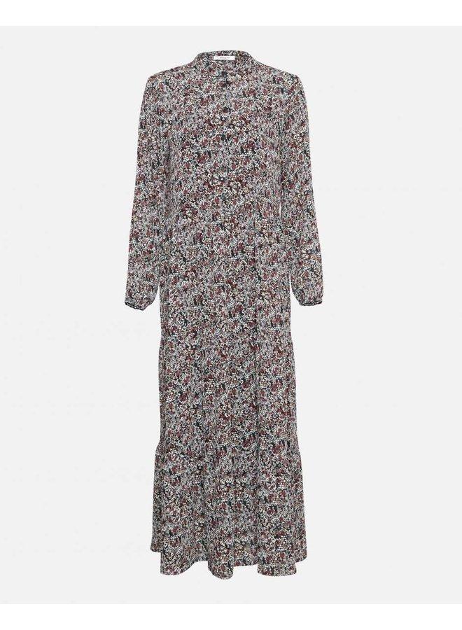 Glorie Rikkelie Maxi Dress AOP | black flower