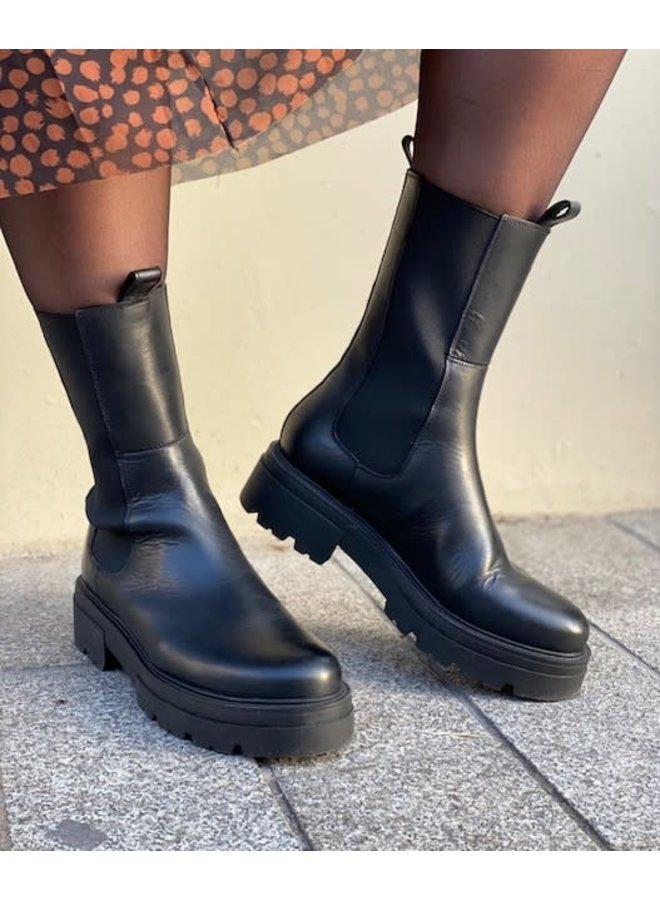 Shari High Chelsea | black leather