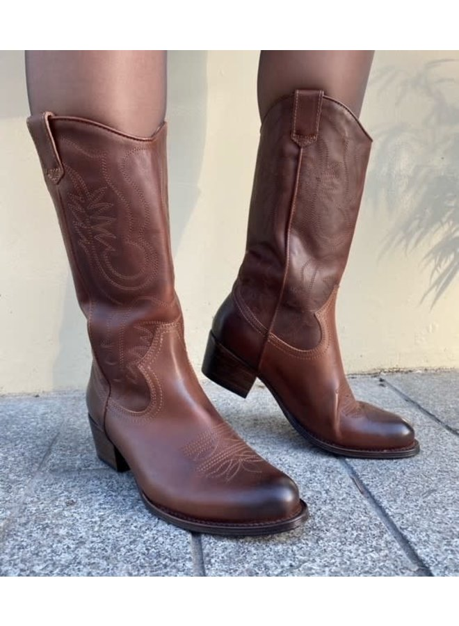 Dulce Western | Bruciatto Leather Pull up