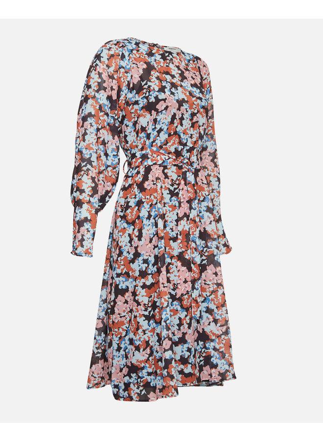 Ammalie LS Dress AOP | black flower